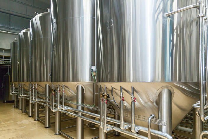 Stainless containers food industry large