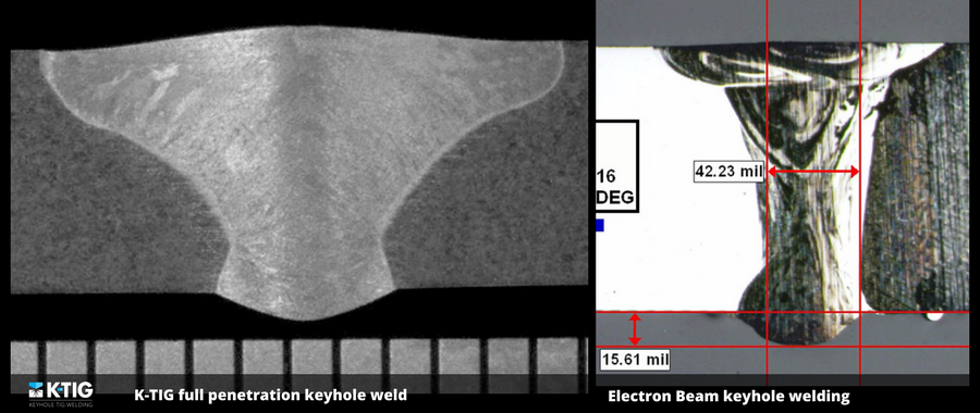 Electron Beam Welding (EBW) is a fusion welding process in which a beam of high-velocity electrons is applied to the materials being joined. The workpieces melt and join together as the energy of the electrons is transformed into heat upon impact. EBW is performed in a vacuum, has high capital and operating costs, and is generally used only in highly specialised applications.